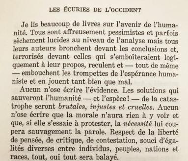 Les Écuries de l'Occident – Traité de morale, La Table Ronde, 1973.jpg