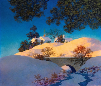 Maxfield Parrish sunlight winter.jpg
