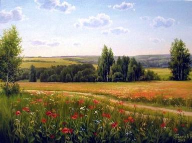 Paysage fleuri Vyacheslav Palachev.jpg