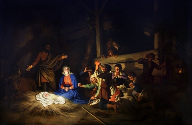 Adoration of the Shepherds by Christian Wilhelm Ernst Dietrich.jpg