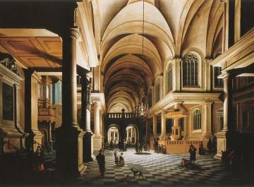 Daniel de Blieck L'intérieur d'une église illuminé par cierges.jpg