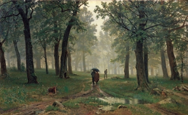 Rain in the Oak Forest Ivan Ivanovitch Shishkin.jpeg