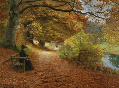 H._A._Brendekilde_-_A_wooded_path_in_autumn_(1902).jpg